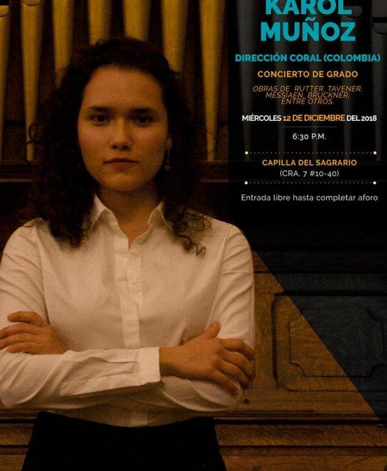 Concierto de grado: Karol Muñoz, dirección coral