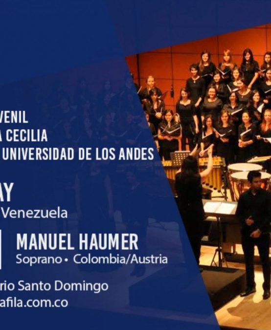 Concierto: Coro Sinfónico de la Universidad de los Andes, el Coro Filarmónico Juvenil y la Sociedad Coral Santa Cecilia