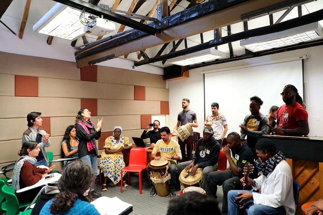 Galería: Uniandinos realizan intercambio musical con The Garifuna Collective (Belice)