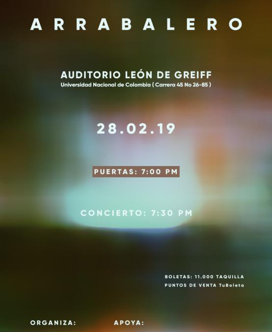 Arrabalero en el Auditorio León de Greiff