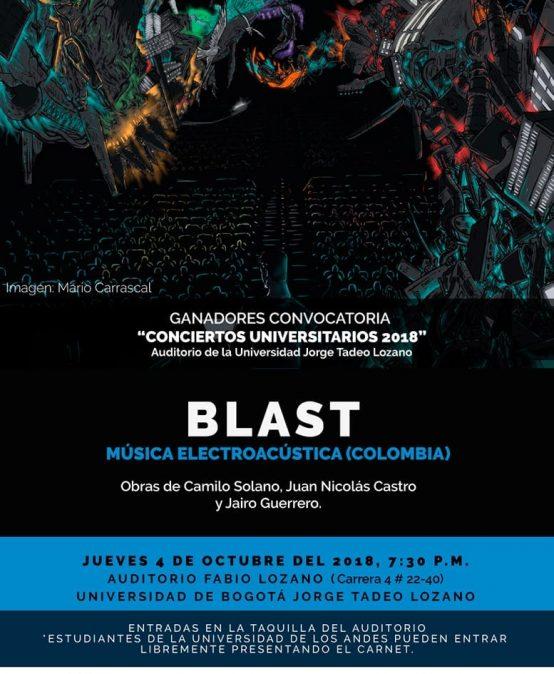 Concierto: BLAST en el auditorio Fabio Lozano