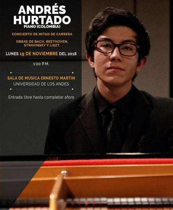 Concierto de mitad de carrera: Andrés Hurtado, piano