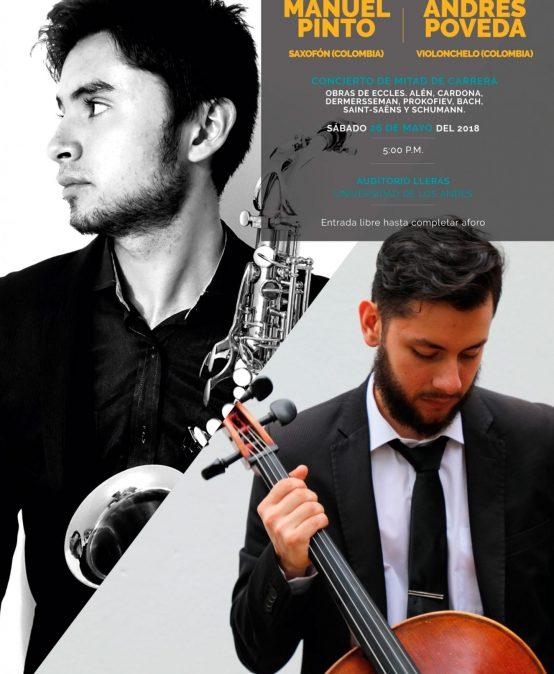 Concierto de mitad de carrera: Manuel Pinto, saxofón y Andrés Poveda, violonchelo