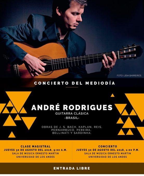 Concierto del mediodía: André Rodrigues, guitarra clásica (Brasil)