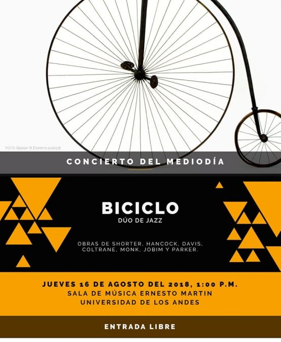 Concierto del mediodía: Biciclo, dúo de jazz