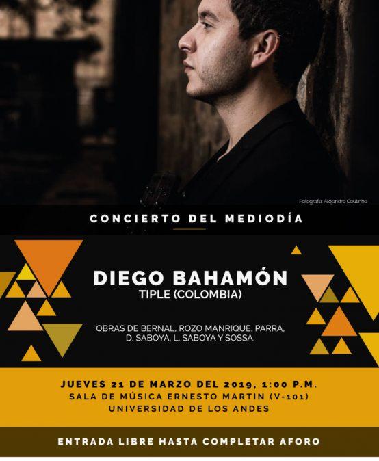 Concierto del mediodía: Diego Bahamón, tiple (Colombia)