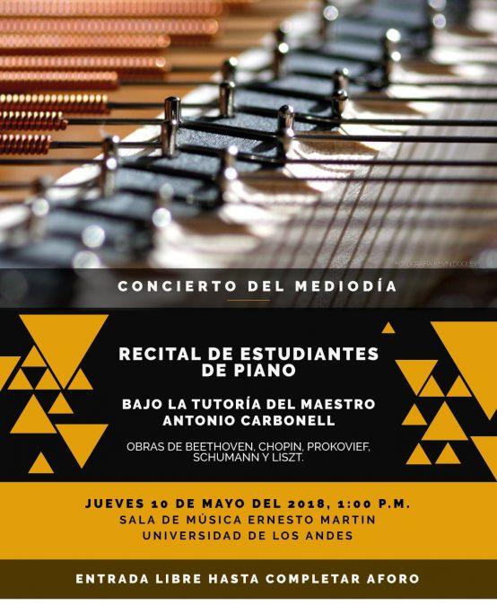 Franja concierto del mediodía: Recital de estudiantes de piano