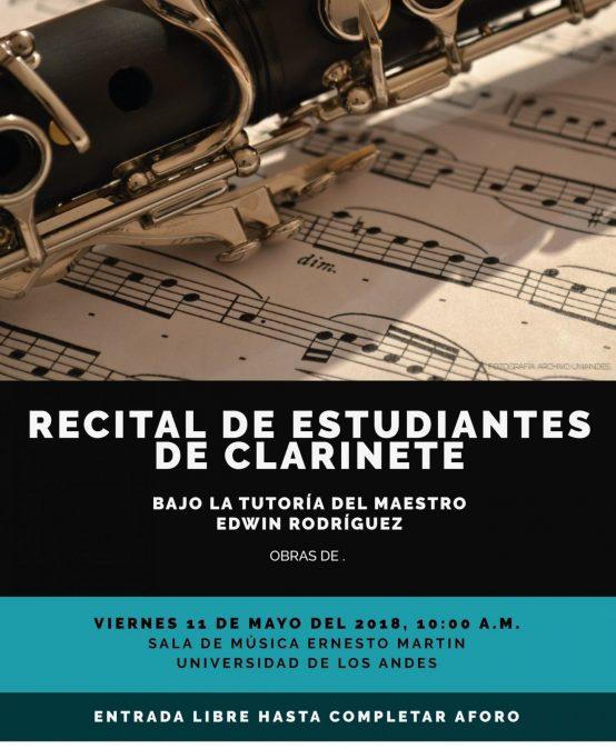 Recital de estudiantes de clarinete