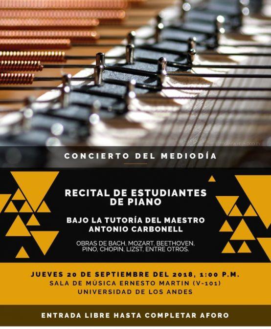 Concierto del mediodía: Recital de estudiantes de piano