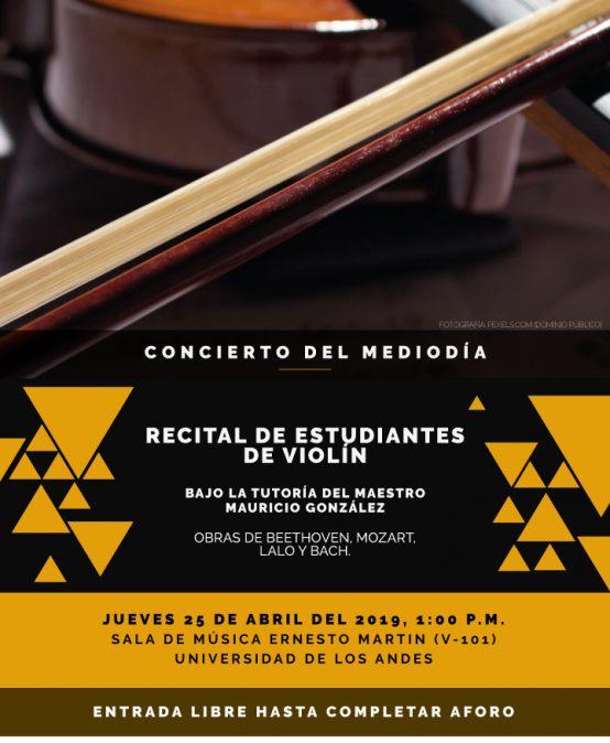 Concierto del mediodía: Recital de estudiantes de violín