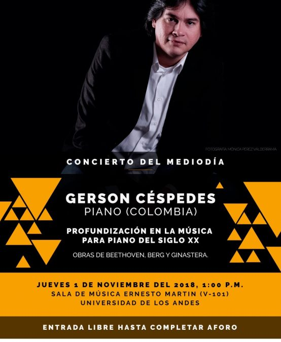 Concierto del mediodía: Gerson Céspedes, piano (Colombia)