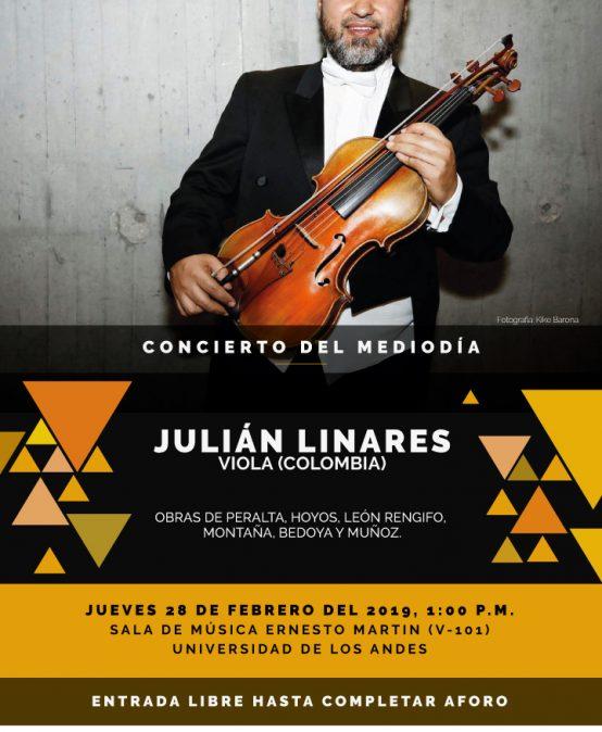 Concierto del mediodía: Julián Linares, viola (Colombia)