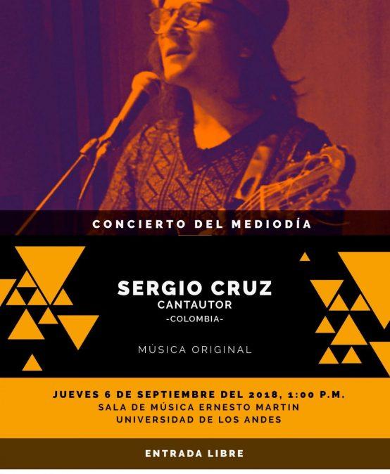 Concierto del mediodía: Sergio Cruz, cantautor (Colombia)