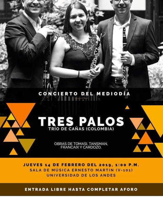 Concierto del mediodía: Tres Palos / trío de cañas (Colombia)