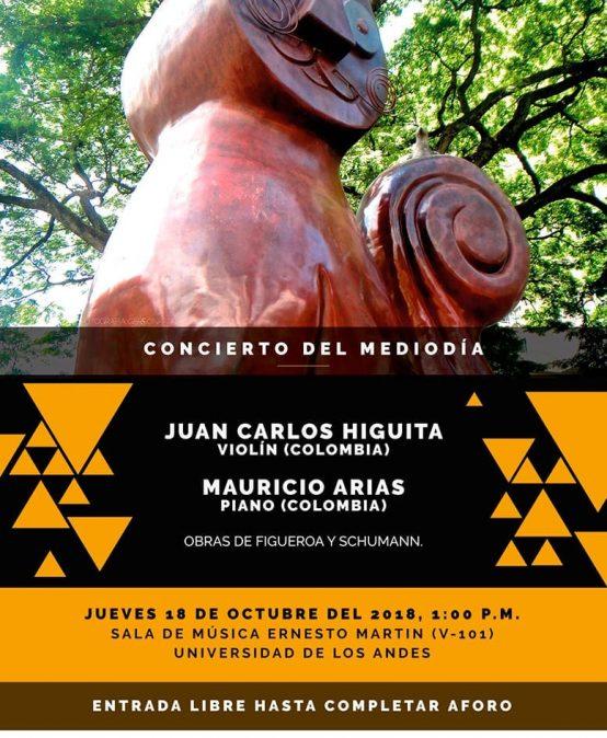 Concierto del mediodía: Juan Carlos Higuita, piano / Mauricio Arias, piano
