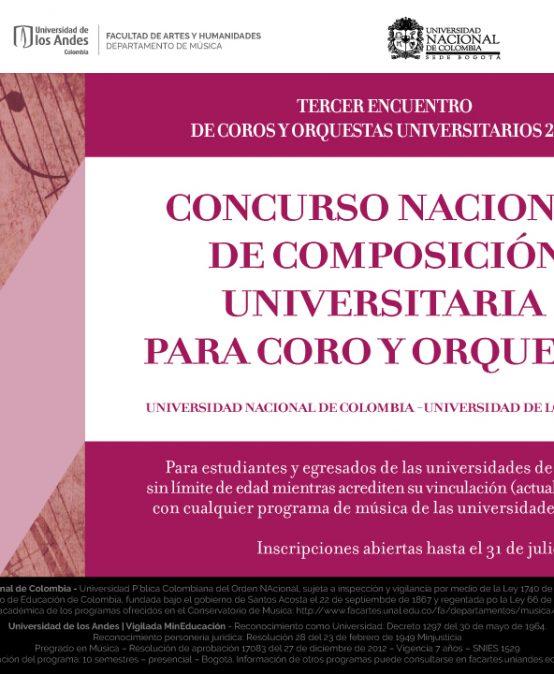 Concurso Nacional de Composición para Coro y Orquesta UNAL-UNIANDES