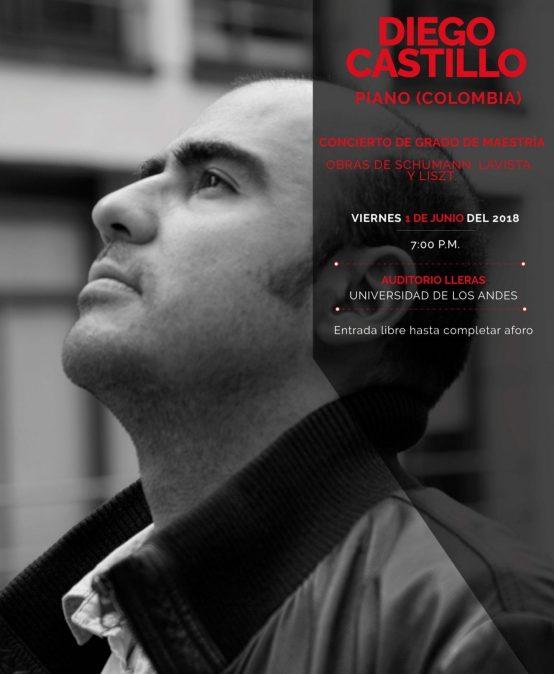 Recital de grado de maestría: Diego Castillo, piano (Colombia)