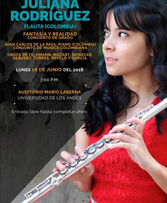 Concierto de grado: Juliana Rodríguez, flauta (Colombia)