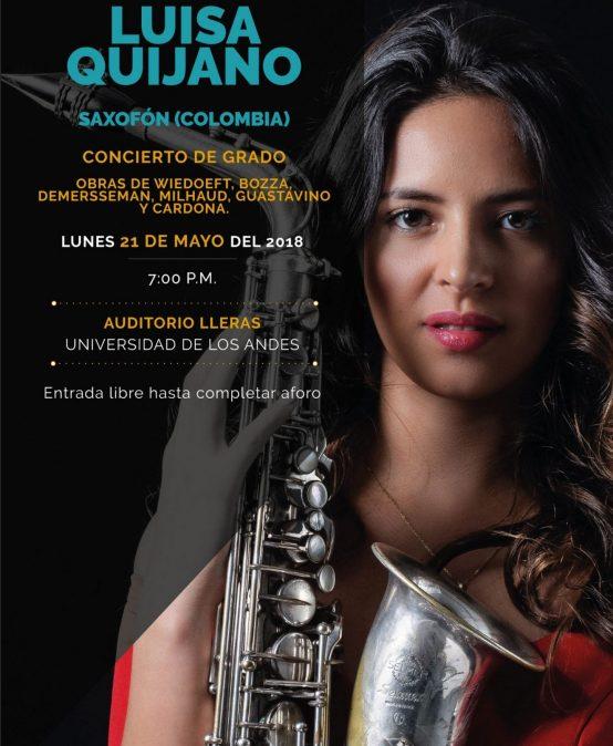 Recital de grado: Luis Fernanda Quijano, saxofón