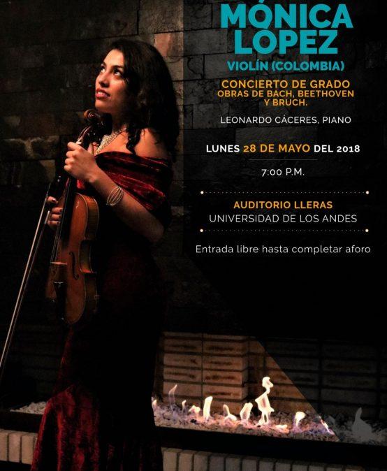 Concierto de grado: Mónica López, violín (Colombia)