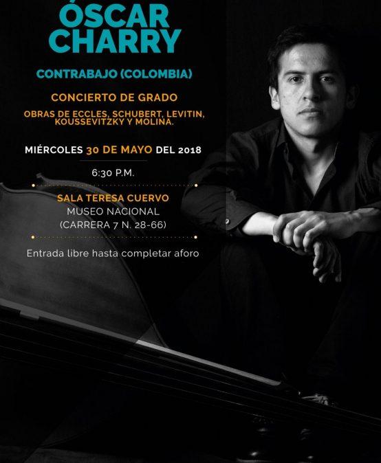 Concierto de grado: Óscar Charry, contrabajo (Colombia)