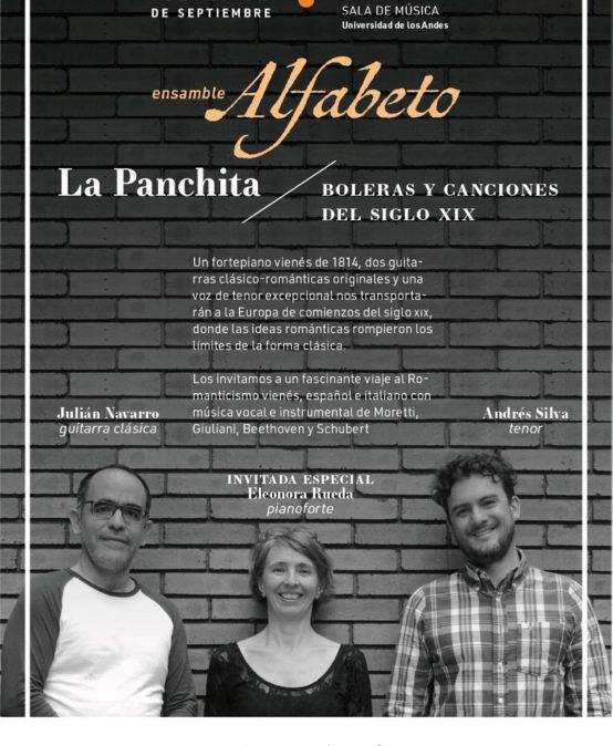 La Panchita, boleras y canciones del siglo XIX – Ensamble Alfabeto