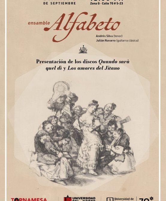 """Presentación de los discos """"Quando sarà quel dì"""" y """"Los amores del Jitano"""" – Ensamble Alfabeto"""