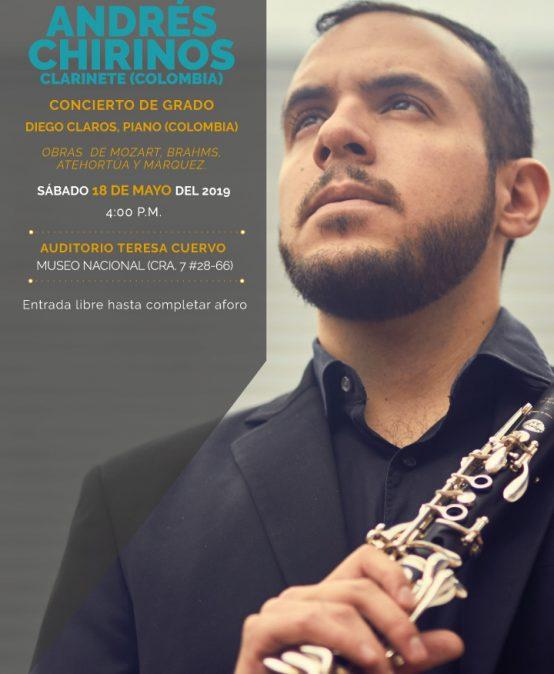 Concierto de grado: Andrés Chirinos, clarinete