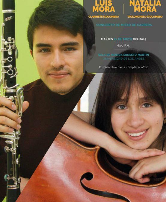 Concierto de mitad de carrera: Luis Mora (clarinete) y Natalia Mora (violonchelo)