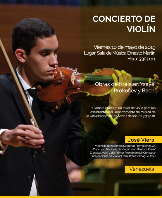 Concierto de violín: José Viera (Venezuela)