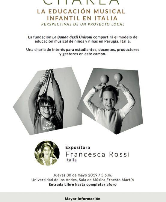 Charla: La educación musical infantil en Italia – Perspectiva de un proyecto local