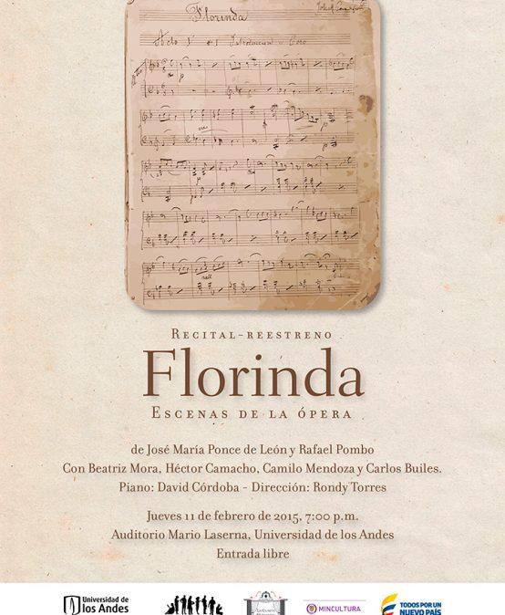 Florinda, ópera de Ponce de León