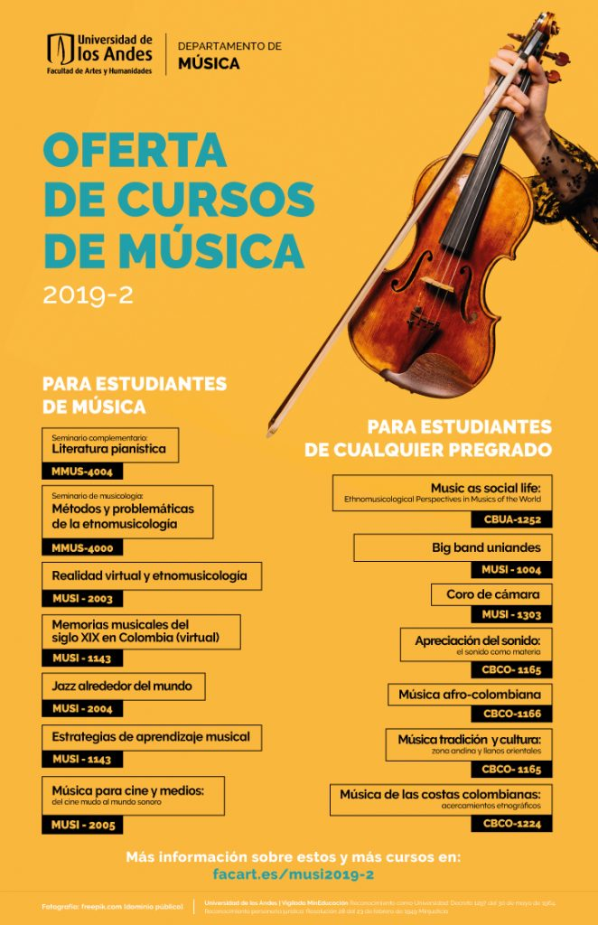 Cursos Música 2019-2