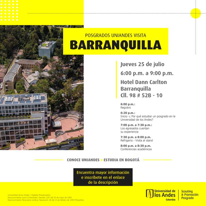 Posgrados Uniandes visita Barranquilla