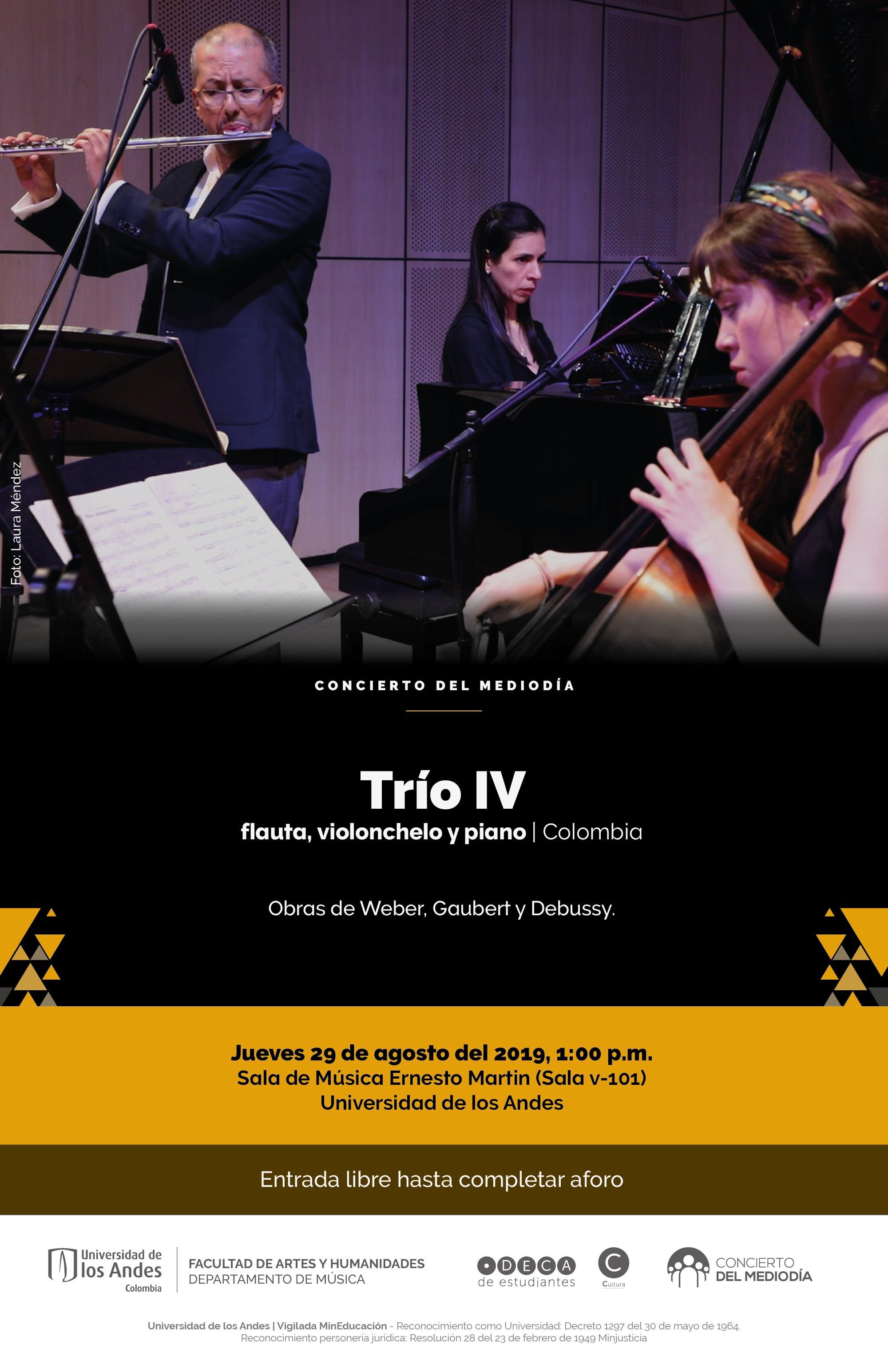 Concierto del Mediodía: Trío IV – flauta, chelo y piano