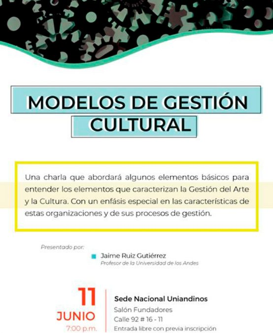 Charla: Modelos de gestión cultural