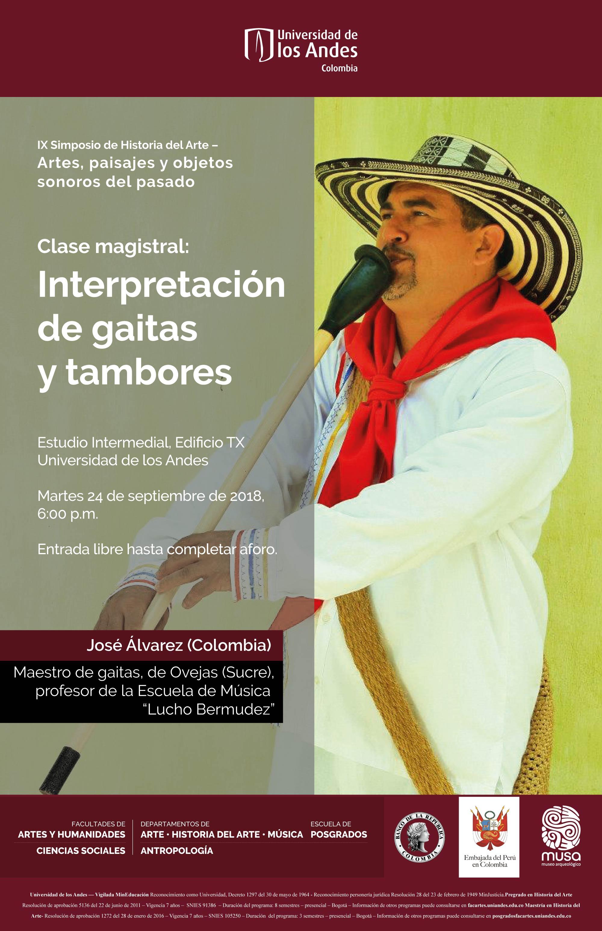 Clase magistral: Interpretación de gaitas y tambores