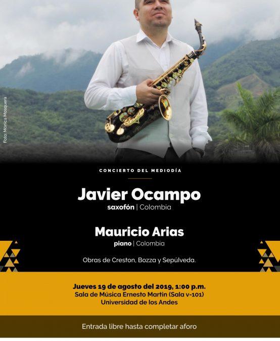 Concierto del Mediodía: Javier Ocampo (saxofón) y Mauricio Arias (piano)