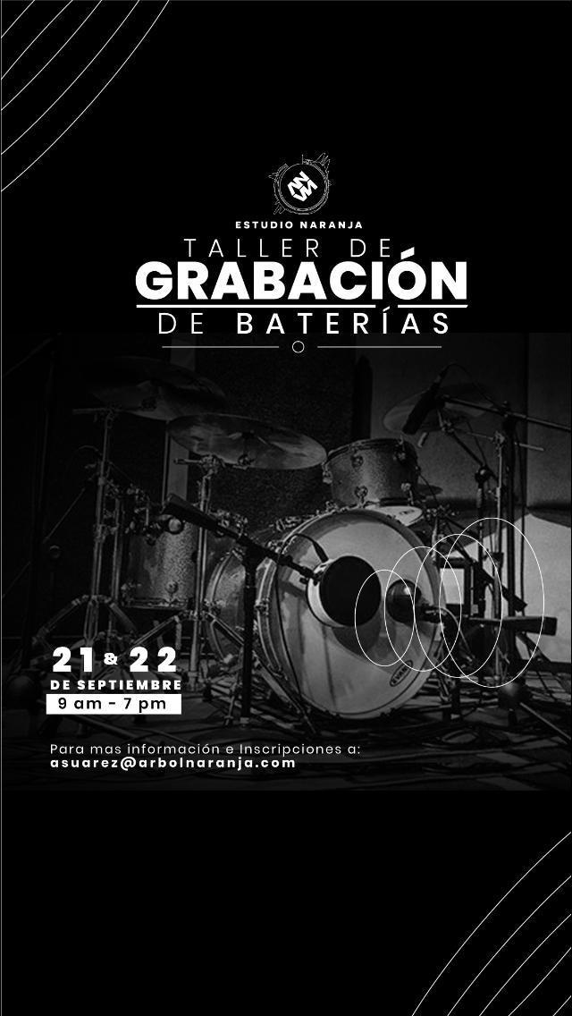 Becas para estudiantes de producción: Taller de grabación de baterías en Árbol Naranja