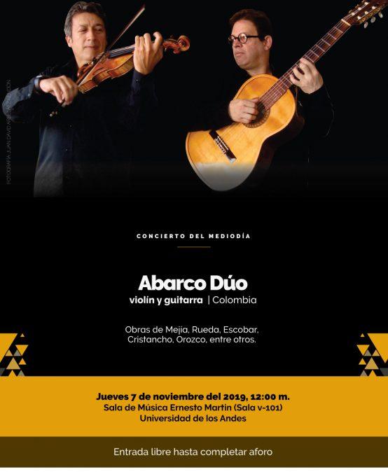 Concierto del Mediodía: Abarco Dúo, violín y guitarra (Colombia)