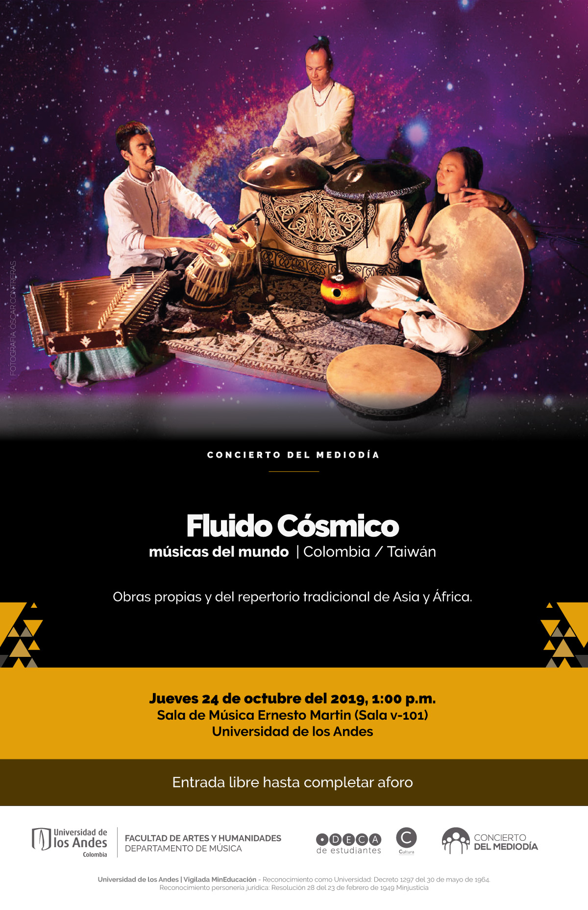 Concierto del mediodía: Fluido Cósmico (Colombia/Taiwán)