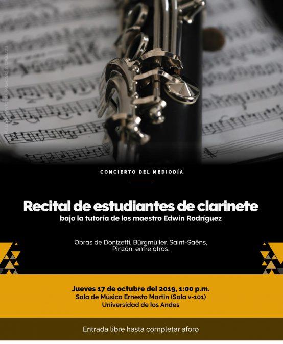 Concierto del Mediodía: Estudiantes de clarinete