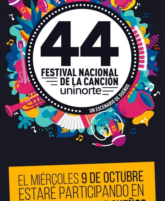 Daniel Bohórquez se presenta en el 44 Festival Nacional de la Canción Uninorte
