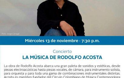 La música de Rodolfo Acosta, compositor (Colombia)