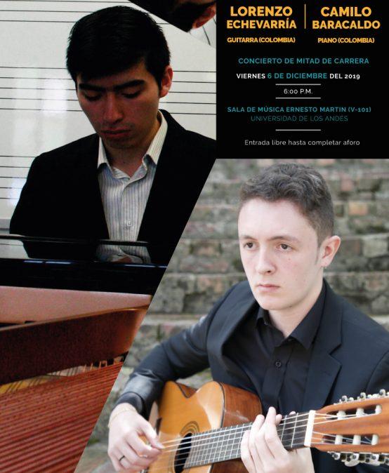 Concierto de mitad de carrera: Lorenzo Echevarría (guitarra) y Camilo Baracaldo (piano)