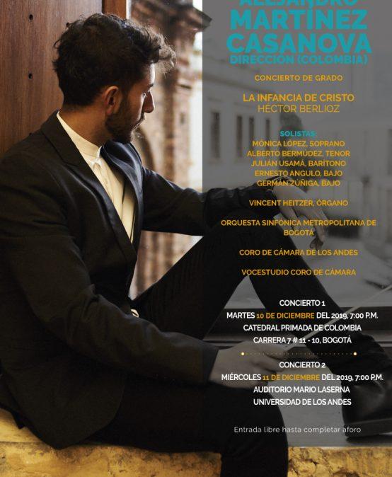 Concierto de grado, segunda función: Alejandro Martínez dirige «La infancia de Cristo» de H. Berlioz
