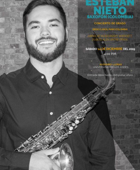 Concierto de grado: Esteban Nieto, saxofón