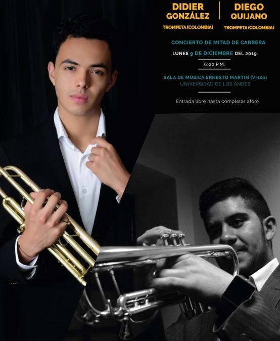 Concierto de mitad de carrera: Diego Quijano (trompeta) y Didier González (trompeta)