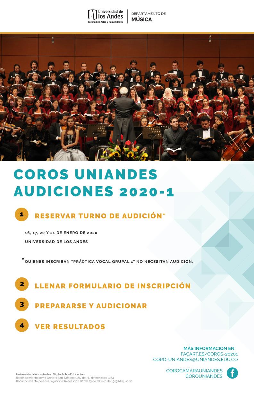 Audiciones corales 2020-1
