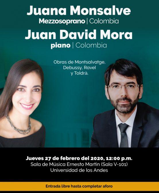 Concierto del mediodía: Juana Monsalve, mezzosoprano